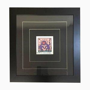Invitación Love rosa para una boda de amigos de Keith Haring, 1988