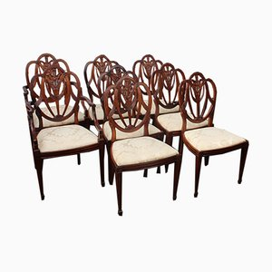 Prince of Wales Dining Chairs Pop out Seats, 1940s, Set of 8