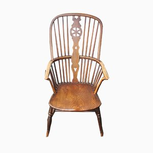 Country Oak Wheelback Windsor Armchair, 1900s