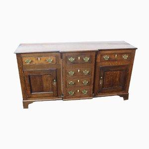 Oak Dresser Base, 1850s