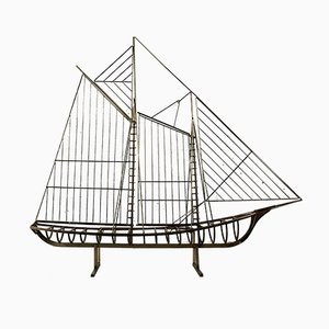Sculptural Sailing Boat by C. Jere, 1976