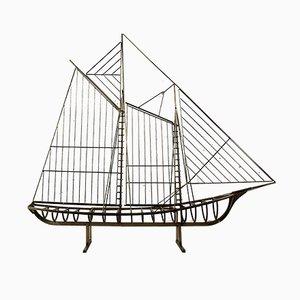 Skulpturales Segelboot von C. Jere, 1976