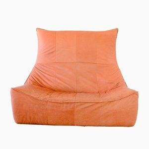 The Rock 2-Sitzer Sofa aus Terrakotta & rotem Leder von Gerard van den Berg für Montis, 1970er