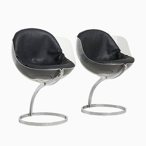 Sphere Dining Chairs by Boris Tabacoff for Mobilier Modulaire Moderne, France, 1970s, Set of 2