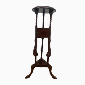 19th Century Mahogany Plant Stand with Drawers