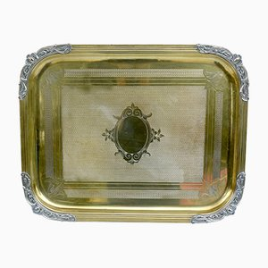 19th Century Metal Double Patina Tray
