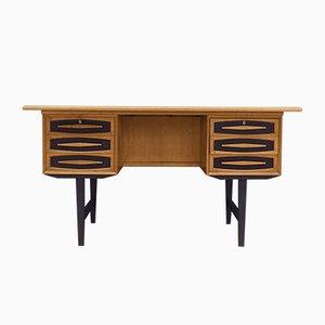 Dänischer Vintage Schreibtisch aus Eschenholz, 1970er