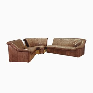 Canapé d'Angle en Cuir, 1970s