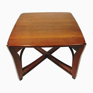Art nouveau Style Wooden Coffee Table by Schuitema & Zonen, 1980s