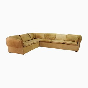 Mid-Century Leather Corner Sofa from Niels Eilersen, 1970s