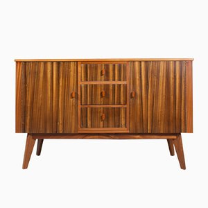 Vintage English Walnut Sideboard from Morris of Glasgow, 1950s