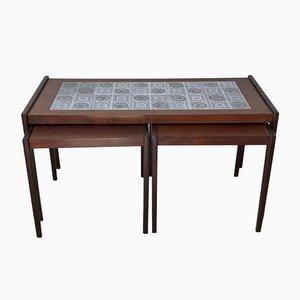 Tables Gigognes Scandinaves Modernes en Teck & Chêne, 1970s