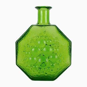 Grüne Finnische Glasvase von Nanny Still für Riihimaki / Riihimaen Lasi Oy, 1960er