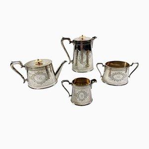 Viktorianisches Versilbertes Tee- und Kaffeeservice von George Shadford Lee & Henry Wigfull, 1871, 4er Set