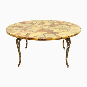 Marble Inlaid Epoxy Coffee Table, 1920s