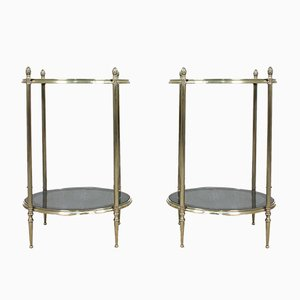 Mid-Century French Brass Side Tables, 1960s, Set of 2