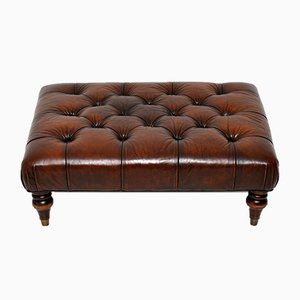 Victorian Style Leather Stool, 1959