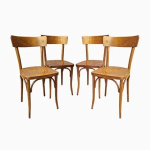 Antique Bistro Chairs from Thonet, Set of 4