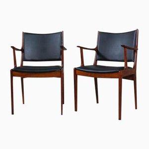 Chaises de Salon en Palissandre par Johannes Andersen pour Uldum Møbelfabrik, 1960s, Set de 12