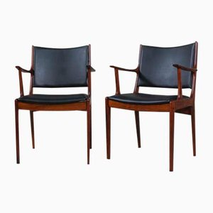 Rosewood Dining Chairs by Johannes Andersen for Uldum Møbelfabrik, 1960s, Set of 12