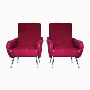 Lounge Chairs in the Style of Marco Zanuso, 1950s, Set of 2