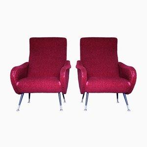 Sessel im Marco Zanuso Stil, 1950er, 2er Set