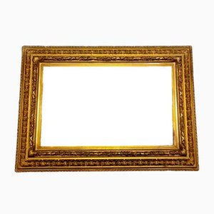 19th Century Danish Empire Style Mirror with Gold Leaf Frame