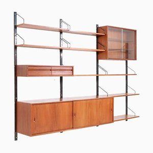 Mid-Century Modern Teak Royal Wall or Shelving Unit by Poul Cadovius for Cado, 1960s