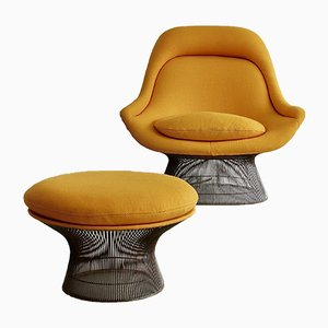 Lounge Chair and Footstool Set by Warren Platner for Knoll Inc. / Knoll International, 1966
