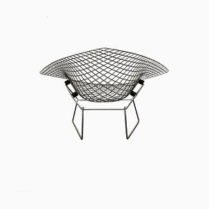 Large Mid-Century Chrome Diamond Chair by Harry Bertoia, 1950s