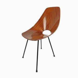 Vintage Medea Stuhl aus Bugholz von Vittorio Nobili für Fratelli Tagliabue, 1950er