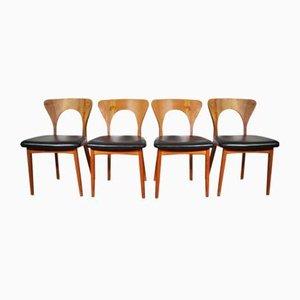 Dänische Mid-Century Esszimmerstühle von Niels Koefoed für Koefoeds Hornslet, 1960er, 4er Set