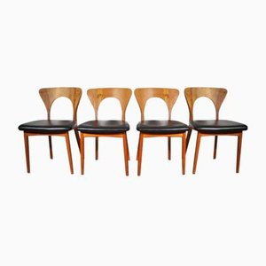 Mid-Century Danish Dining Chairs by Niels Koefoed for Koefoeds Hornslet, 1960s, Set of 4