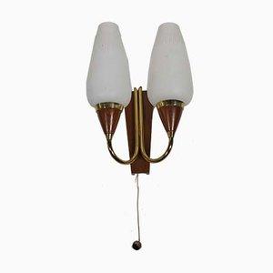 Mid-Century Teak Sputnik Wandlampe, 1960er