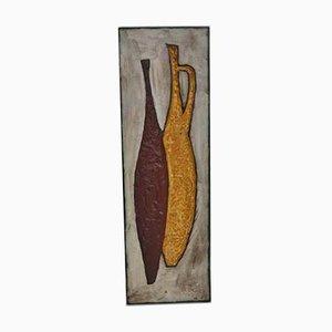 Mid-Century Wandteller aus Keramik von Schäffenacker, 1960er