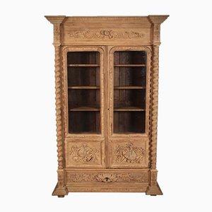 Antique Glazed Bleached Oak Cabinet