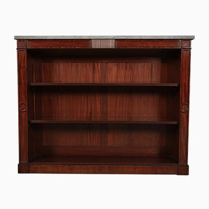 Antique Regency Inlaid Mahogany Open Bookcase