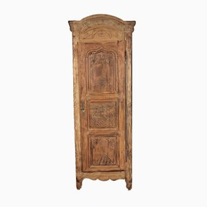 Antique Rustic French Oak and Cherrywood Armoire