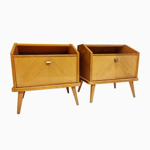 Mid-Century Spanish Nightstands, 1950s, Set of 2