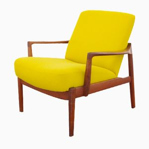 Yellow FF 125 Easy Chair by Tove & Edvard Kindt Larsen for France & Son