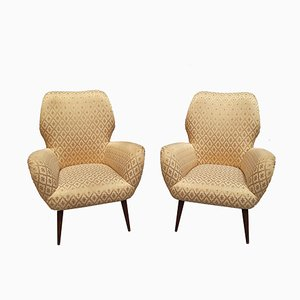 Vintage Italian Lounge Chairs, 1950s, Set of 2