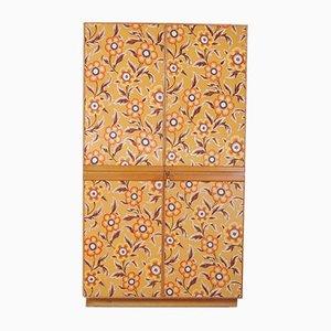 Floraler Wandteppich Kleiderschrank, 1950er