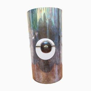 Fackel Kerzenhalter aus versilbertem Metall von Lino Sabattini für Sabattini, 1960er