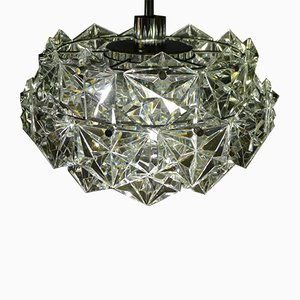 4-Tier Chandelier in Crystal Glass with Chrome-Plated Mount from Kinkeldey, 1960s