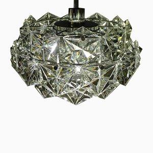 Vierstufiger Kronleuchter aus Kristallglas mit verchromter Halterung von Kinkeldey, 1960er