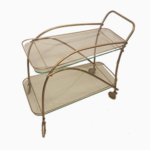 Brass Bar Cart, 1950s