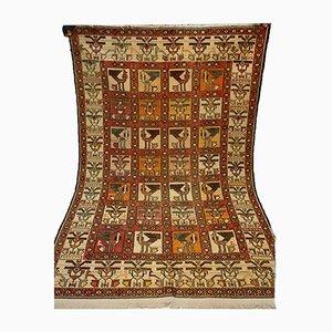 Tapis Kilim Vintage en Soie Tissée à la Main, Moyen-Orient