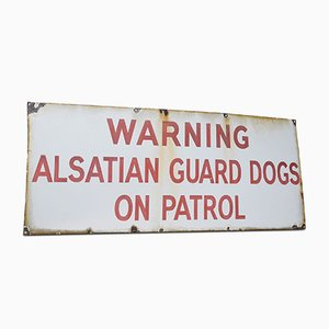 Antique Enameled Alsatian Sign