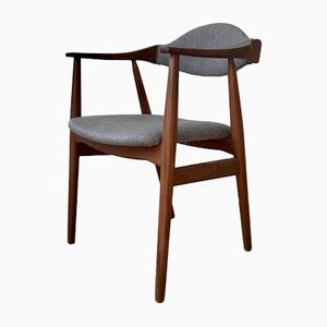 Dänischer Moderner Armlehnstuhl aus Teak & Graue Wolle von Farstrup Møbler, 1960er