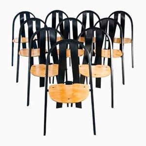 Dänische Stapelbare Mid-Century Stühle aus Buche, 1970er, 10er Set